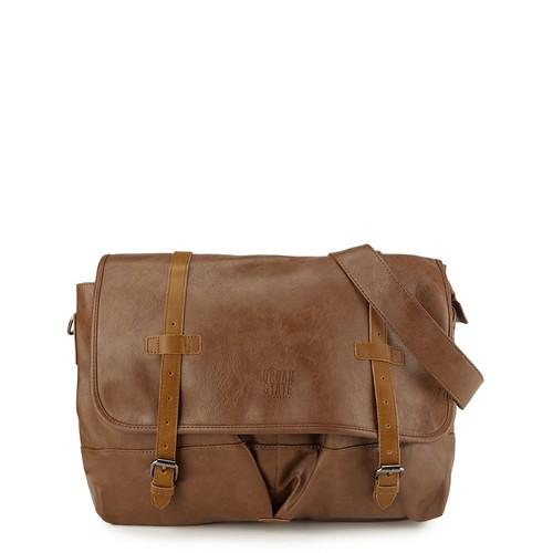 Foto Produk Urban State - Distressed Leather Nomad Messenger Bag - Camel dari Urban State