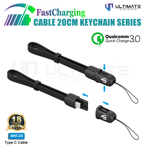 Foto Produk Ultimate Power Kabel Data Charging Cable Keychain Series Type C 20CM dari Ultimate Power Official