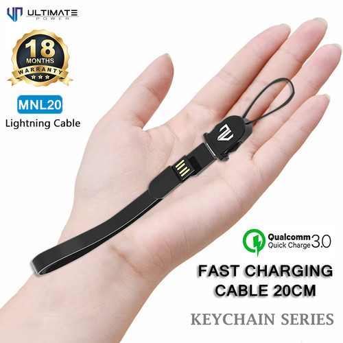 Foto Produk Ultimate Power Kabel Data Iphone Cable Keychain Series Lightning 20CM dari Ultimate Power Official