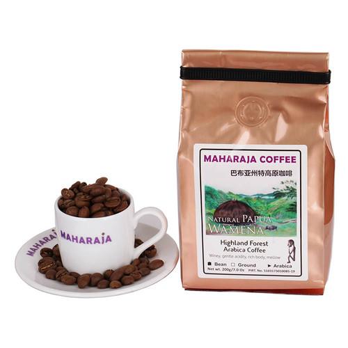 Foto Produk Fresh roast Kopi sangrai Papua Wamena Arabika 200g Maharaja Coffee - Biji-Beans dari Maharaja Coffee