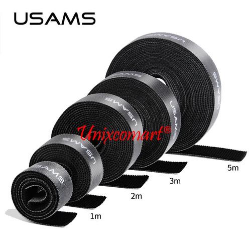 Foto Produk Usams Velcro Cable 1m / 2m / 3m / 5m Strap Pengikat Perekat Kabel - Satu Meter dari Unixcomart