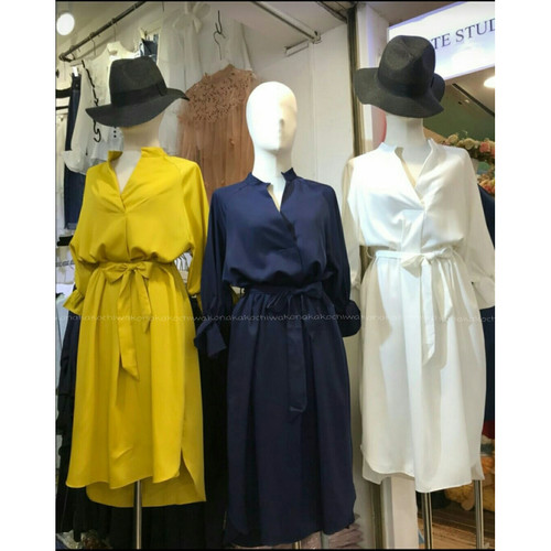 Foto Produk [Long lolita PNMu VE]dress wanita korean silk varian warna - Biru dari FASHIONISTA's GROSIR