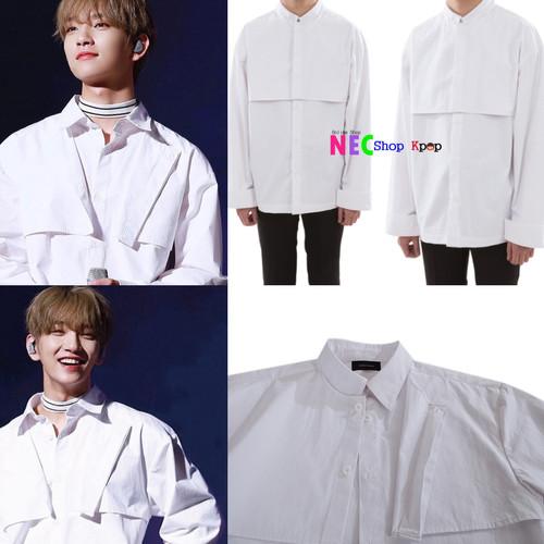 Foto Produk Joshua Seventern Heavy Collar Shirt White dari NEC Shop Kpop