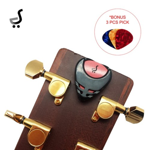 Foto Produk Pick Gitar Holder Tempel BONUS Pick Gitar Tempat Wadah PK-36 - Hitam dari BRANDOS