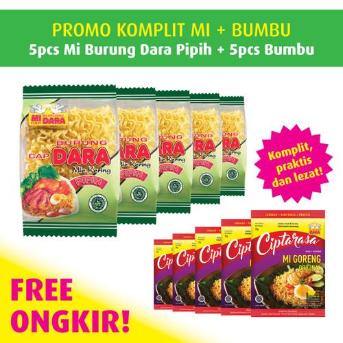 Foto Produk Mi Burung Dara Pipih (5 pcs) + Bumbu Ciptarasa dari BURUNG DARA OFFICIAL