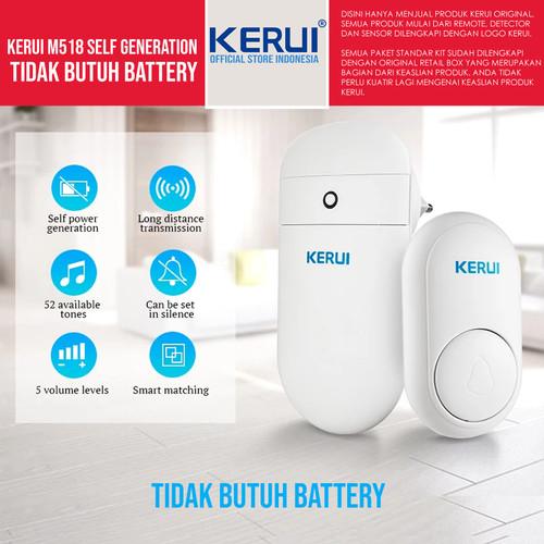 Foto Produk Original Kerui M518 Doorbell Generasi Baru Tanpa Battery dari KERUI OFFICIAL STORE