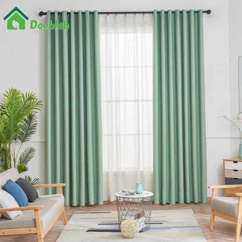 Foto Produk [Import] Tirai Jendela Warna Polos untuk Kamar Tidur dari UrbanDecor.id
