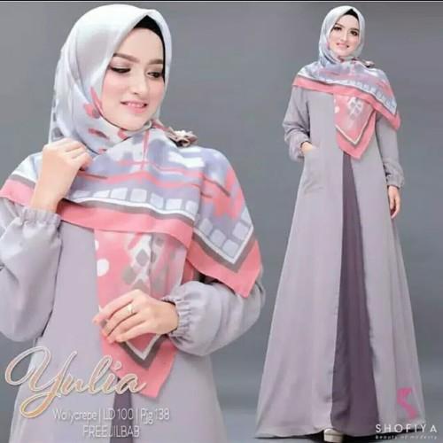 Foto Produk Pakaian Baju Busana Muslim Wanita Long Dress YULIA Gamis Terbaru dari Zy's Distro