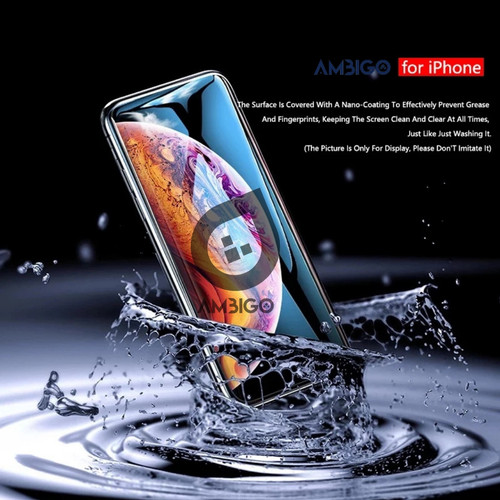 Foto Produk Iphone 5 5s 6 6s 6+ 7+ 8 Plus X XR Tempered Glass Ambigo - iphone X dari Jagonya Case