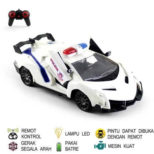 Foto Produk Mainan Mobil Remot Kontrol RC Mobil Polisi - Putih dari Mafemale