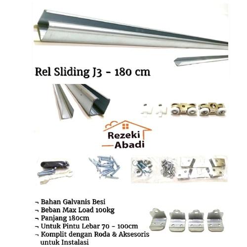 Foto Produk Rel Pintu Sliding / Rel Geser / J3 dari Rezeki Abadi12