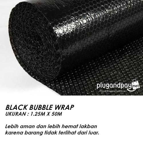 Foto Produk Bubble Wrap 1.25m x 50m (1,25m x 50m) 3kg HItam dari plugandpay