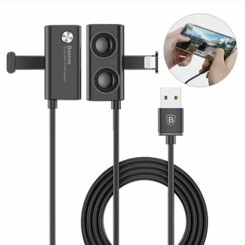 Foto Produk Kabel Data Gaming Baseus B01 Mobile Game Suction Cup Lightning 2.4A 2M dari Fashion Lover Acc