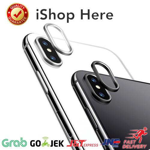 Foto Produk Back Camera Ring Lens Cover Ring Kamera Belakang iPhone X XR XS Max - Merah Muda, iPhone X dari iShop Here