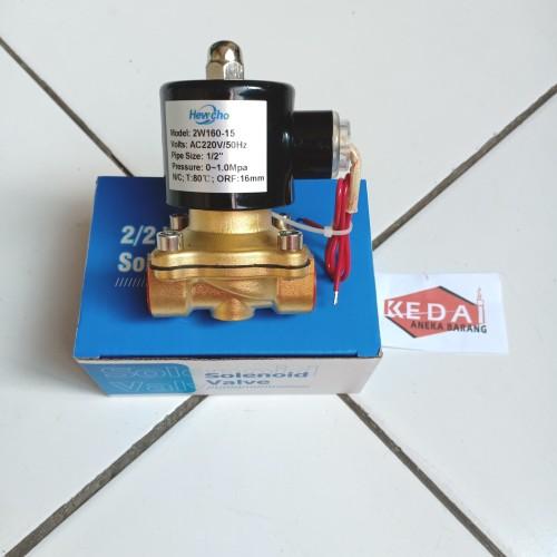 "Foto Produk Solenoid Valve 1/2"" 1/2 Inch Brass Kuningan 220V 220VAC NC 2W-160-15 dari Kedai Aneka Barang"