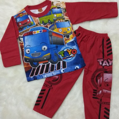 Foto Produk Baju Tidur Anak Laki Keren 5-6 Thn Motif Tayo - Size 12 dari Pantystocking