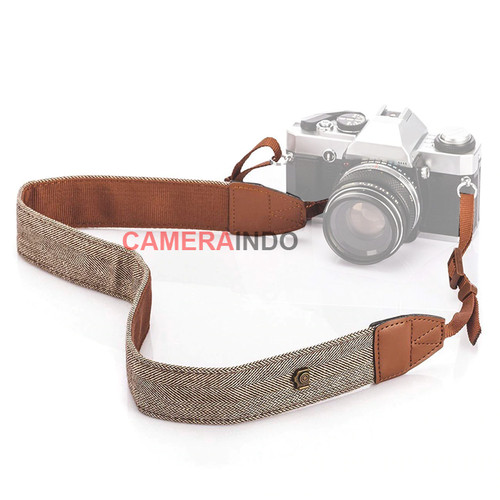 Foto Produk Tali Kamera Neck Strap Cotton For Camera Canon Nikon Sony Fujifilm - BROWN dari SMN Official