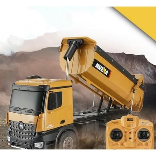 Foto Produk Huina 1573 RC Dump Truck Metal 10CH 1/14 RC Alat Berat RTR dari RCmania Hobby