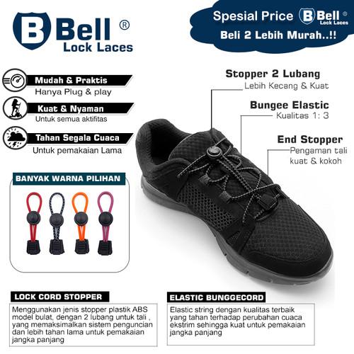 Foto Produk Tali sepatu BELL Lock Laces elastis murah berkualitas super dari JAYER. Elastic Rubber