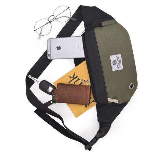 Foto Produk TAS waistbag EL-LOCO ( Tahan air, HARGA GROSIR BAHAN BERKELAS) - Hijau dari Woodbags Store