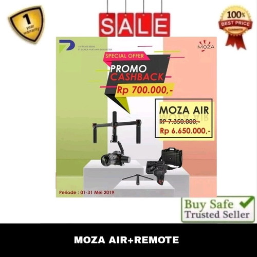 Foto Produk MOZA AIR 3-AXIS HANDHELD GIMBAL - HANDLE GRIP - REMOTE BLUETOOTH dari maulia store JT