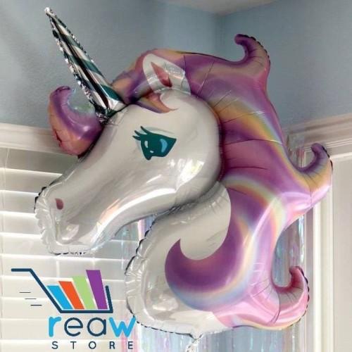 Foto Produk Balon Foil Kuda Pegasus / Unicorn Ungu (120cm) dari SRI RATU