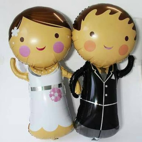 Foto Produk Balon Foil Pengantin / Bride & Groom Lucu Jumbo dari SRI RATU