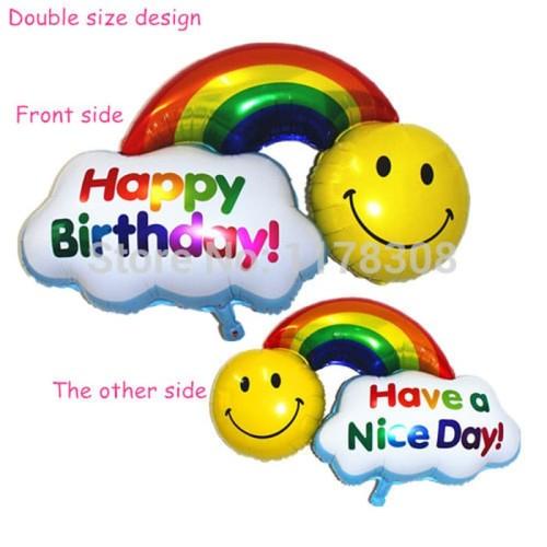 Foto Produk Balon Foil 2 Side (Have a Nice Day & Happy Birthday) dari SRI RATU