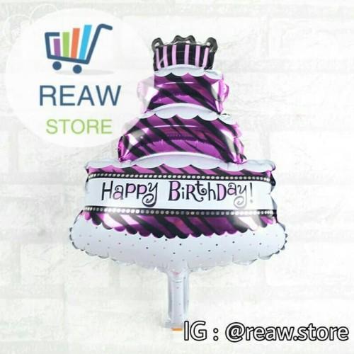 Foto Produk Balon Foil Kue Ulang Tahun Mini / Cake Mini dari SRI RATU