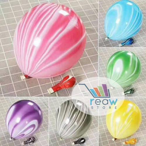 Foto Produk Balon Latex Marble / Kelereng dari SRI RATU