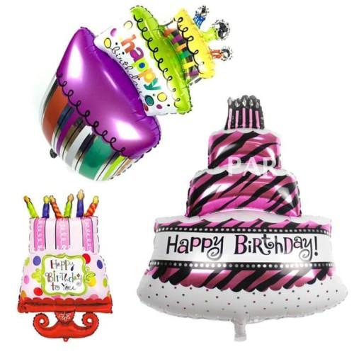 Foto Produk Balon Foil Kue Ulang Tahun / Birthday Cake Aneka Motif dari SRI RATU
