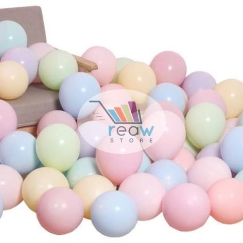 Foto Produk Balon Latex Doff Warna Pastel Macaron (10 Inch) Per Pack dari SRI RATU