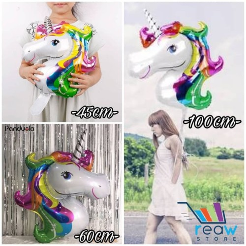 Foto Produk Balon Foil Kuda Pegasus / Unicorn (100cm) dari SRI RATU