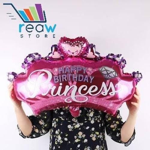 Foto Produk Balon Foil Mahkota Happy Birthday Princess Jumbo dari SRI RATU