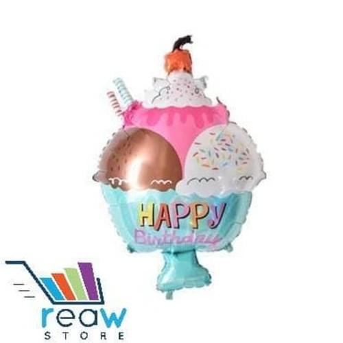 Foto Produk Balon Foil Happy Birthday Ice Cream Gelas Cup dari SRI RATU