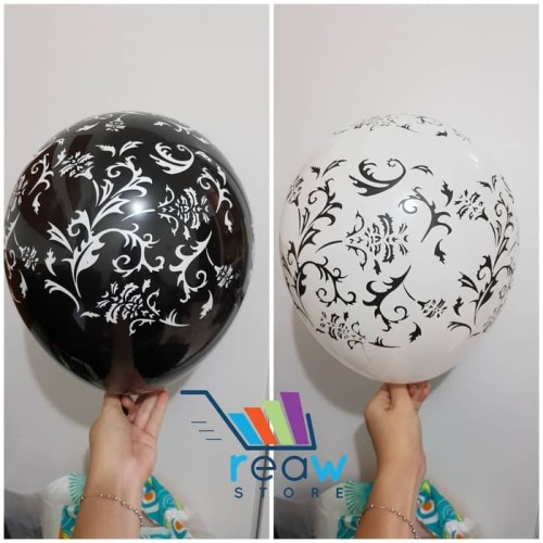 Foto Produk SALE Balon Latex Batik dan Balon Latex Motif Kulit Sapi Per Pack Murah dari SRI RATU