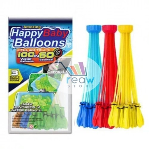 Foto Produk Balon Latex Isi Air / Magic Bunch Balloons Water Bundle 3 Set x 35 Pcs dari SRI RATU