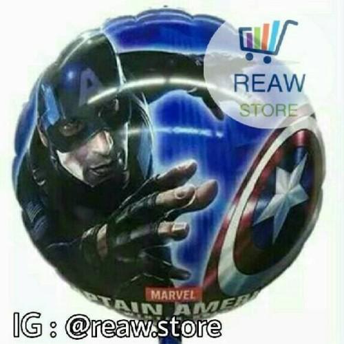 Foto Produk Balon Foil Captain America Bulat dari SRI RATU