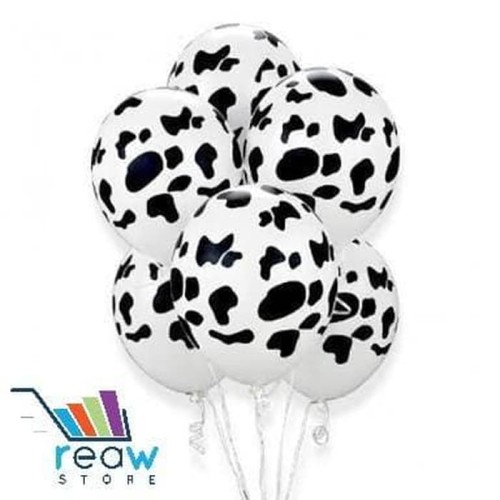 Foto Produk Balon Latex Sapi / Kulit Sapi Hitam Putih dari SRI RATU