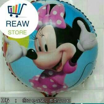 Foto Produk Balon Foil Minnie Mouse Bulat dari SRI RATU