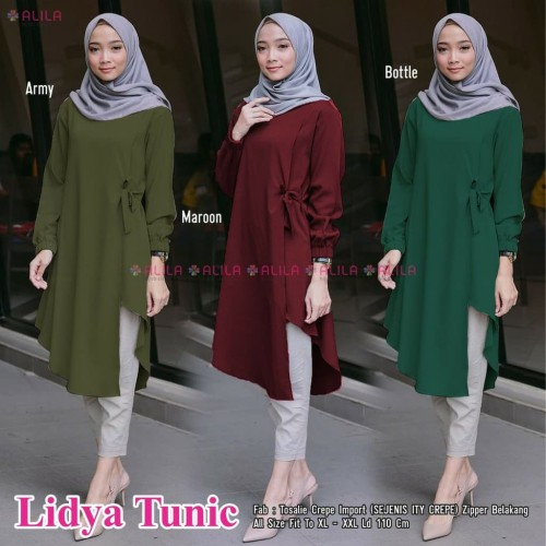Foto Produk Lidya blouse wanita muslim - Biru Muda dari jaya28_shop