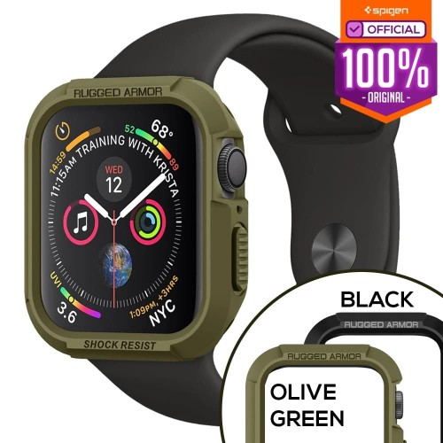 Foto Produk Case Apple Watch Series 4 44mm Spigen Softcase Rugged Armor Casing - Hijau dari Spigen Official