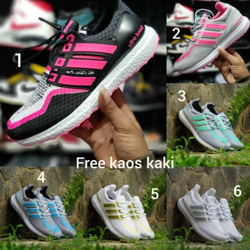 Foto Produk Adidas Ultraboost size 36 - 40 sepatu cewek wanita gym biru pink hitam - Satu, 36 dari eno ajjh