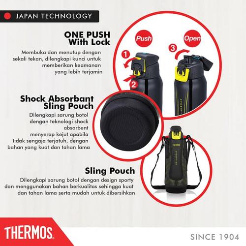 Foto Produk GROSIR ESKD Thermos Sports Bottle Vacuum Insulated -Navy P 1.0 L FFZ-1 dari toko yurigold