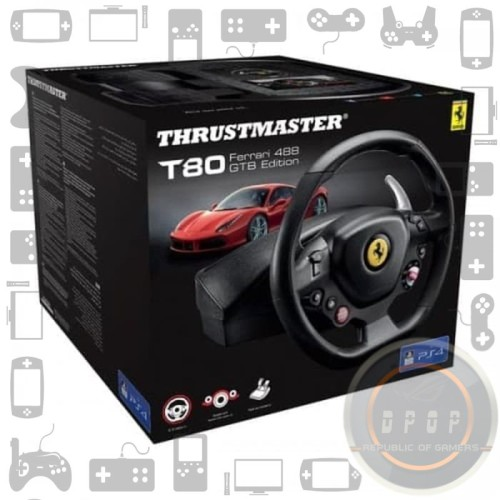 Foto Produk Thrustmaster T80 Ferrari 488 GTB Edition Racing Wheel For PS4 PC dari dpopshop