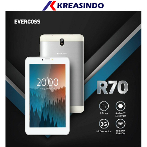 """Foto Produk Evercoss R70 Tablet 7"""" 3G 1/8 Garansi resmi dari Kreasindo Online"""