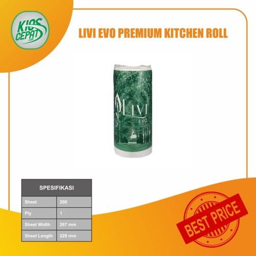 Foto Produk Tissue LIVI EVO Premium Kitchen Roll Towel 200s (Tisu Dapur) dari KiosCepat