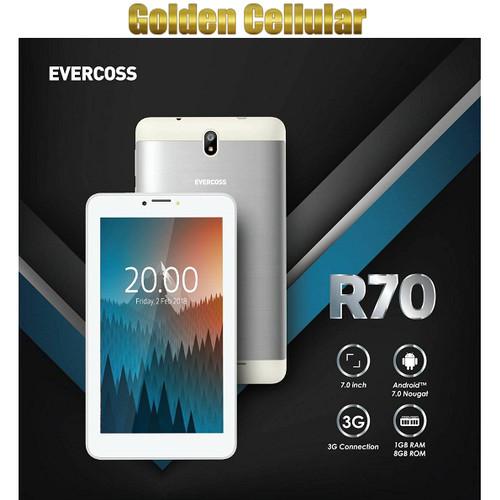 "Foto Produk Evercoss R70 Tablet 7"" 3G 1/8 Garansi resmi - Hitam dari Golden Cellular"