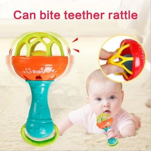 Foto Produk TEETHER RATTLE STICK SINGLE / KRINCINGAN MAINAN GIGITAN BAYI BPA FREE dari Bintaro Baby Shop
