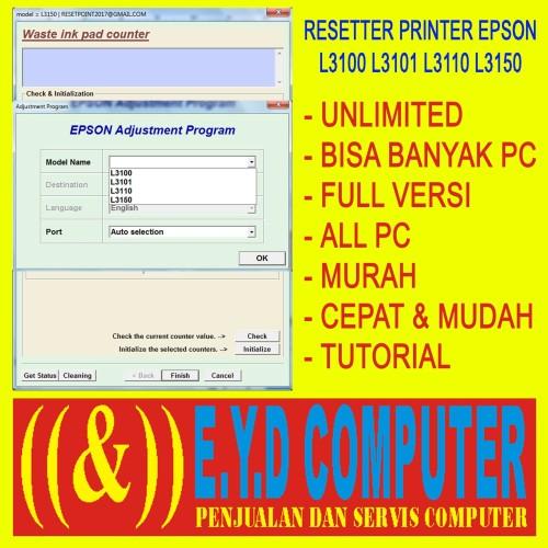 Foto Produk RESSETER EPSON L3100 L3101 L3110 L3150 BANYAK PC RESETTER RESETER dari TOKO EYD COMPUTER
